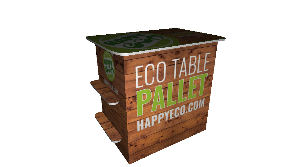 Eco Table Pallet (hyllyillä)