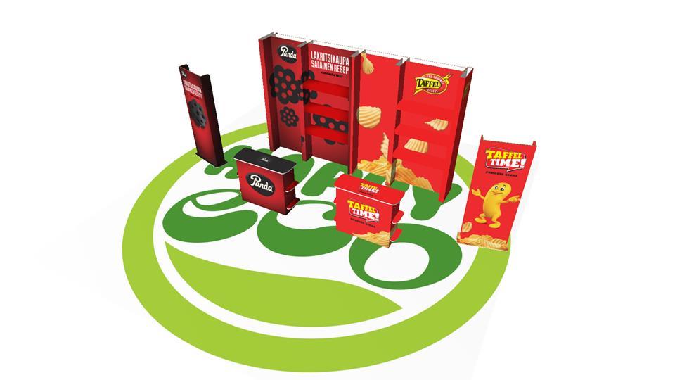 Happyeco -messuosasto: Orkla Confectionery & Snacks Finland